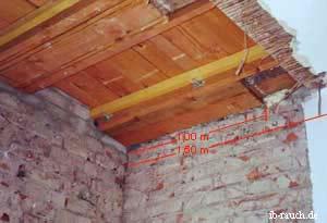 der Aufbau von historischen Holzbalkendecken und ihre Sanierung
