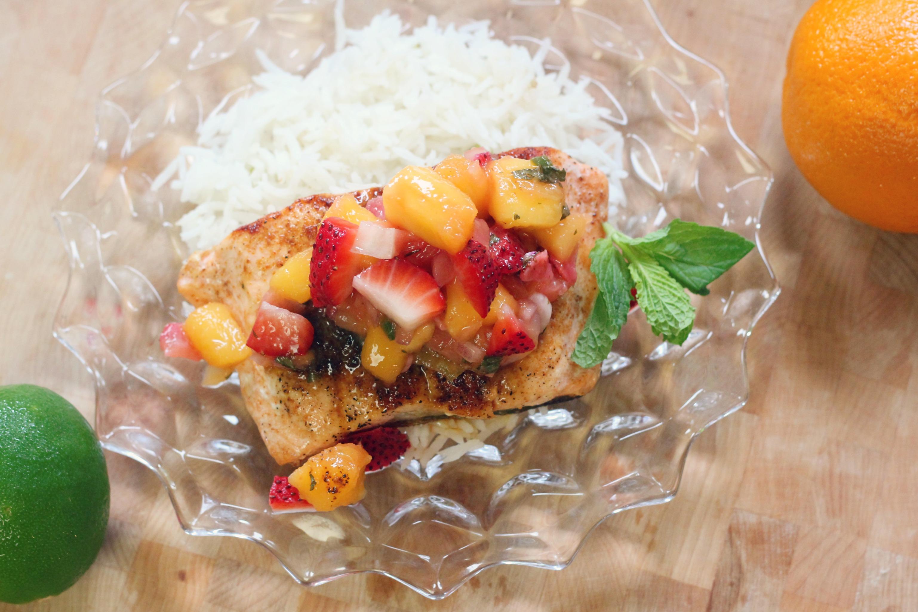 Seared Salmon Mango Salsa