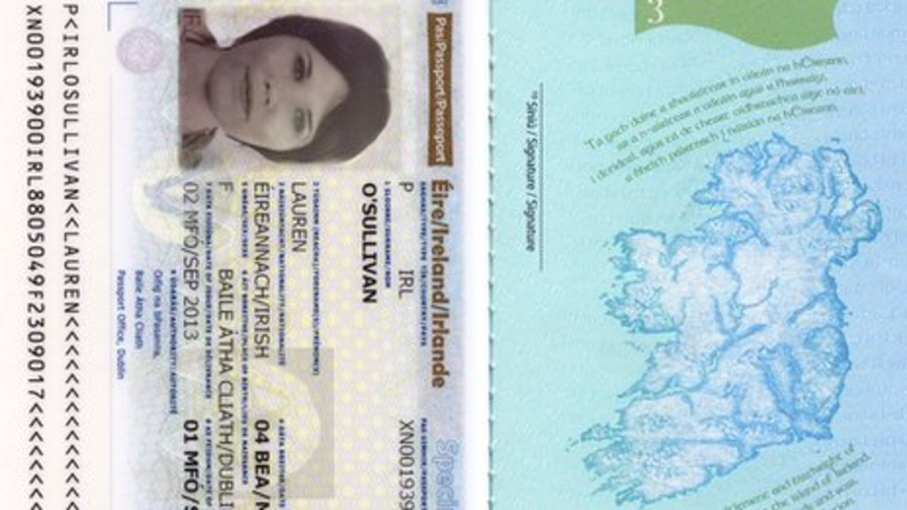 New look Irish passport unveiled featuring iconic images   BBC News