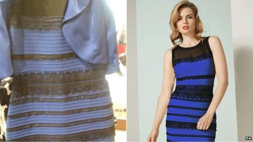 Optical illusion  Dress colour debate goes global   BBC News Dress