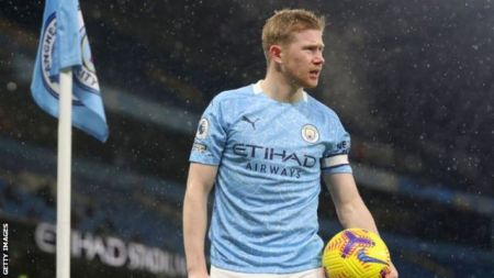 Kevin De Bruyne: Manchester City Midfielder Out For Four To Six Weeks - BBC  Sport