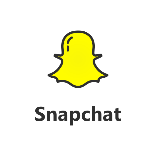 Snapchat, with, text Icon Free of Popular Social Media ...