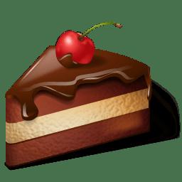 Cake Chocolate Icon 3d Food Iconset Icons Land