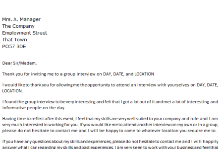 Job interview thank you letter examples free professional resume best solutions of sample thank you letter after a job interview for best solutions of sample thank you letter after a job interview for trainee also expocarfo Images