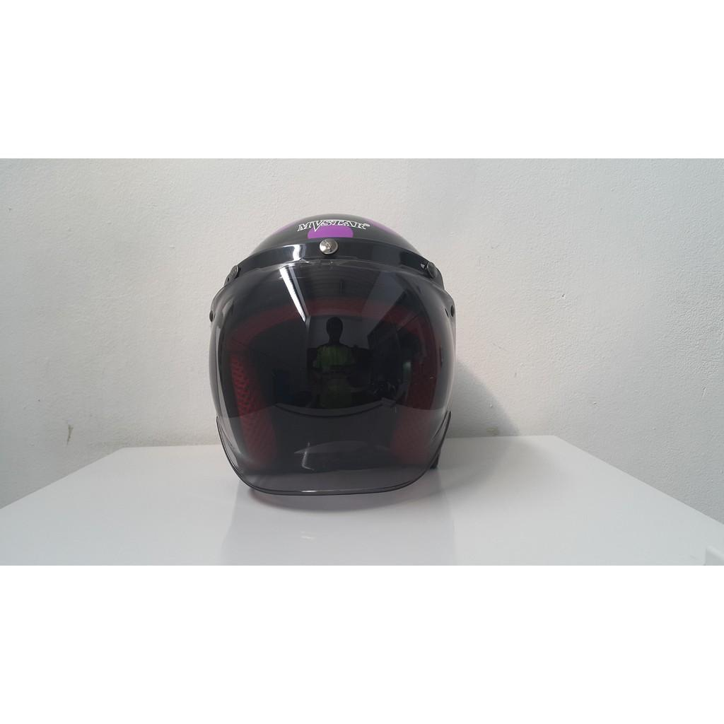 Helm Bogo Polkadot Ungu / Purp / Cute / Retro / Girl / Ink / Kyt