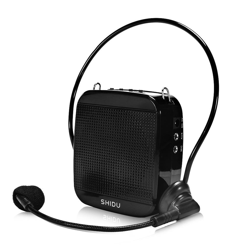 Portable High-Power 15W Rechargeable Voice Amplifier With Wired Microphone And Waistband Support MP3 Format Audio U Disk/TF Card for Tour Guides, Teachers, Coaches, Presentations, Salesman (Black)