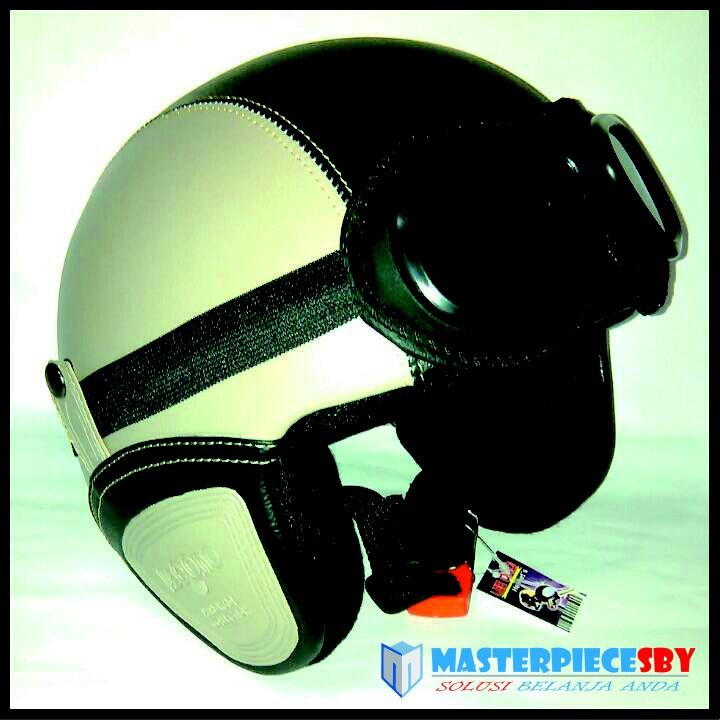 New Promo Helm Retro Pilot Keren Best Seller Krem- Bkn INK-JPX-KYT-