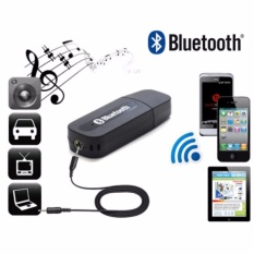 Bluetooth Music Receiver Adapter Audio Music For Speaker 3.5mm Stereo Bluetooth Transmision Portable - Black