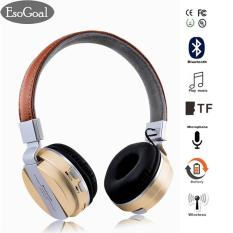 EsoGoal Wireless Bluetooth Headphone Foldable Leather Sport Headset With FM Radio AUX TF Card-MP3 Smart Phones & Tablets