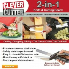 CLEVER CUTTER GUNTING PISAU TALENAN 2IN1 PEMOTONG SERBAGUNA SEEN ON TV Terbaru