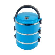 Vuvida Lunch box Rantang susun 3 stainless steel - biru