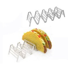 Stainless Steel Taco Pemegang Rack Stand Hard Soft Kerang Strongwavy Rack Roti Sandwich Memegang-4-5 Kantong- Oven-Intl
