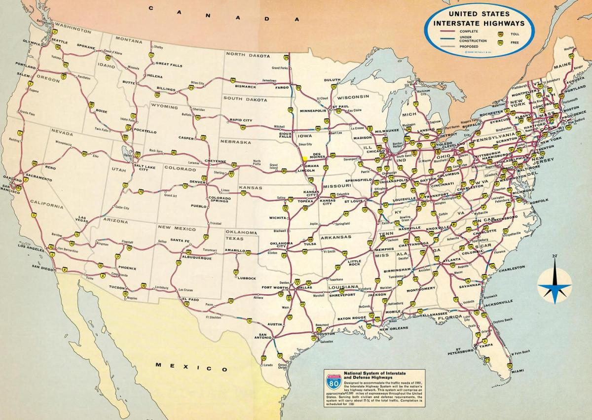U S Map With Major Airports