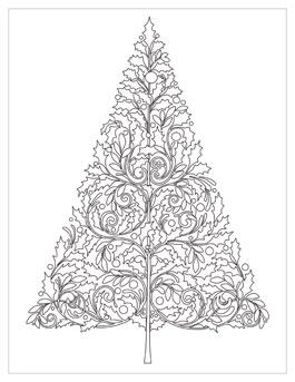 christmas ornament coloring page # 81