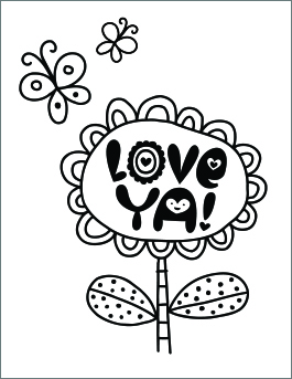 coloring pages for valentines day printable # 10