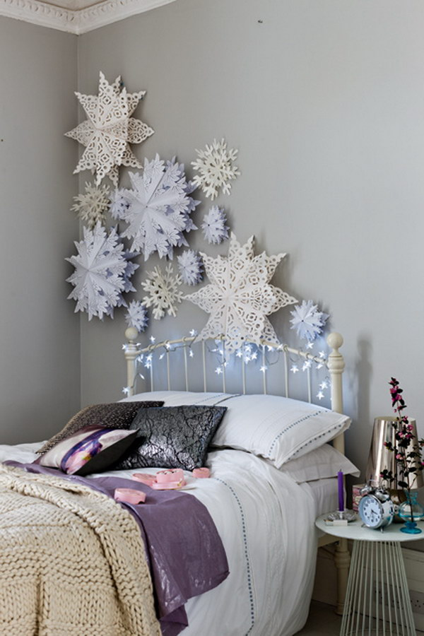20  Awesome Winter Decorating Ideas   Tutorials 2017 Paper Snowflakes