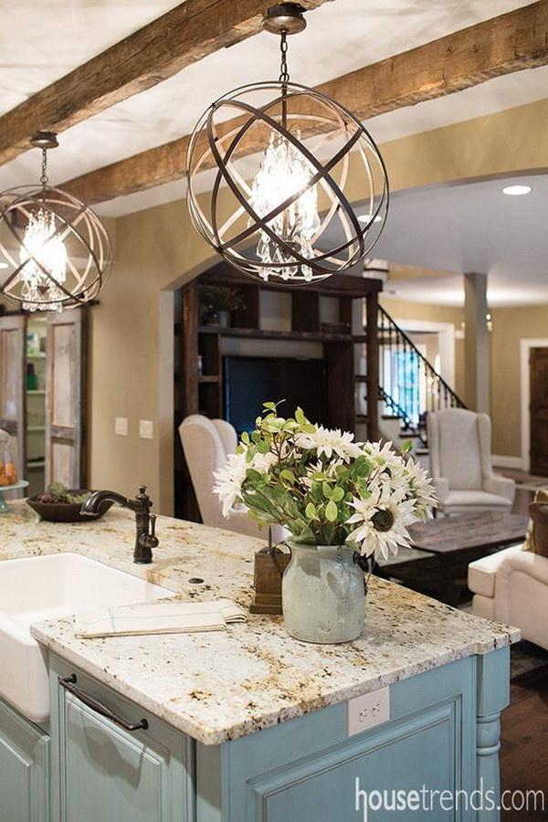 pendant lighting over kitchen island # 20