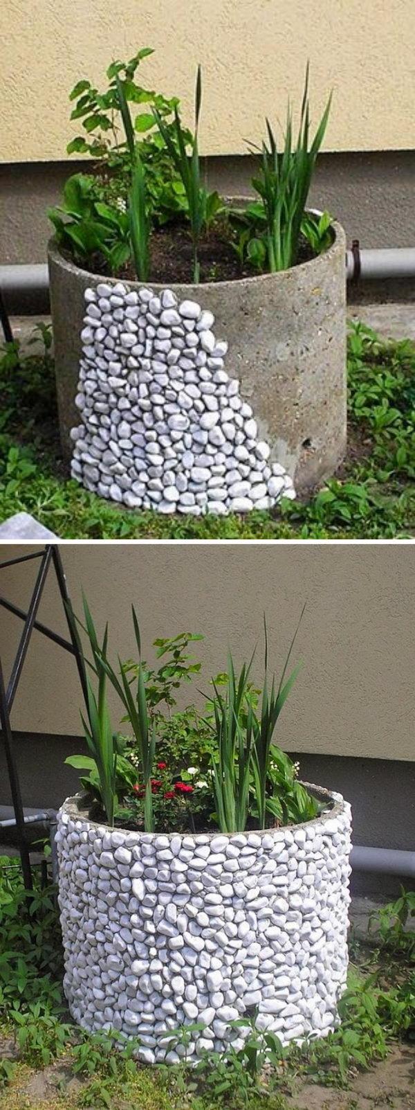 Rock Building Bed Flower