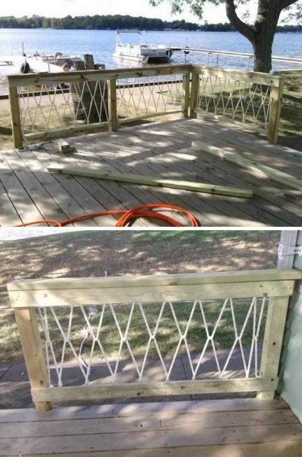 Deck Railing Ideas Rope