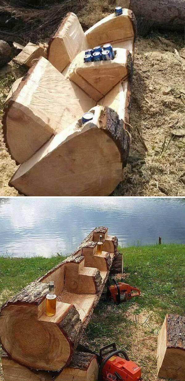 15 Diy Tree Log Ideas For Your Garden 2017