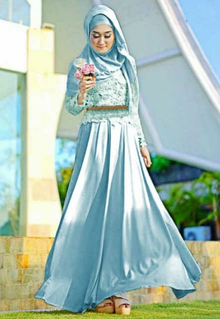 Image Result For Model Gamis Pesta Motif Bunga