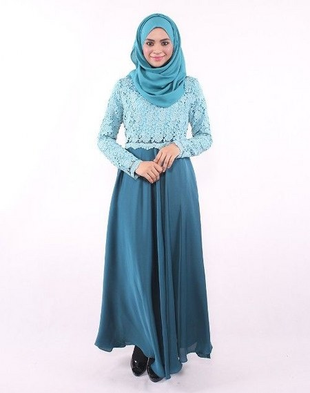 Image Result For Model Gamis Syari Motif Bunga