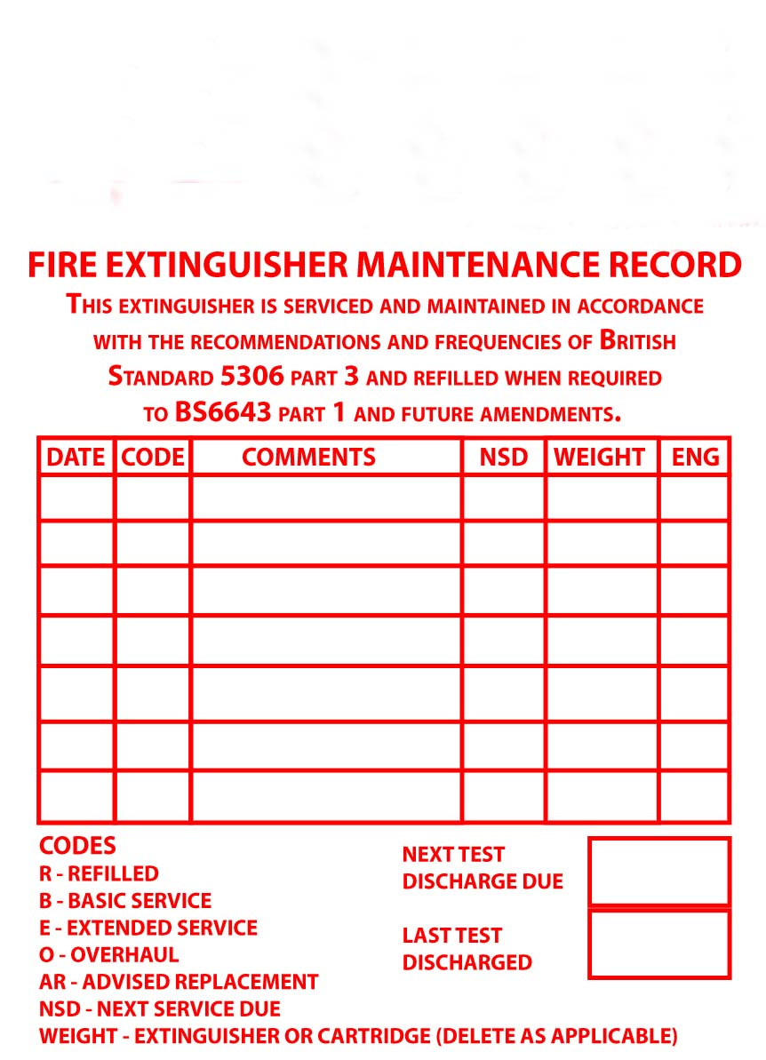 Additional Fire Extinguisher Maintenance Course – Slough ...