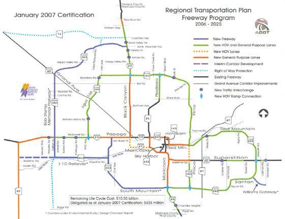 Phoenix Freeway System Map