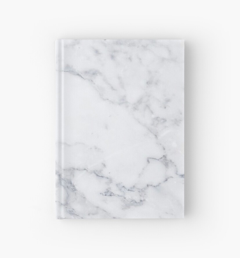 Quot White Marble Quot Hardcover Journal By Mermaidnatalie Redbubble