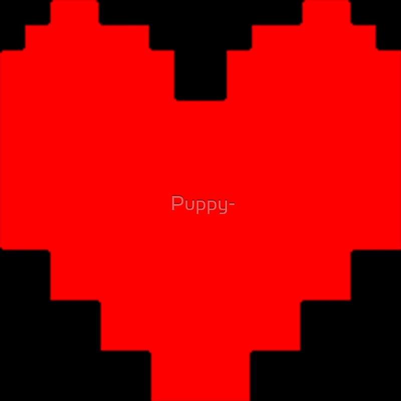 Undertale Pixel Art Heart