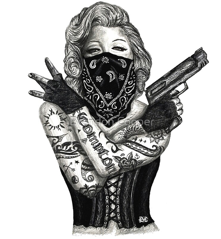 Marilyn Monroe With Tattoos Poster