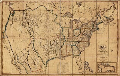 Map of the United States by John Melish  1818  3rd State     Map of the United States by John Melish  1818  3rd State by allhistory