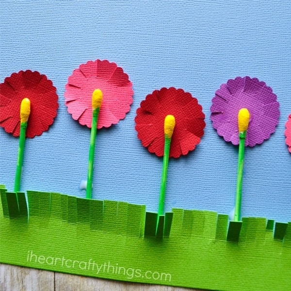 Q Tip Flowers Craft   I Heart Crafty Things Make sure to check out more q tip crafts near the bottom of this post from  the kids craft stars
