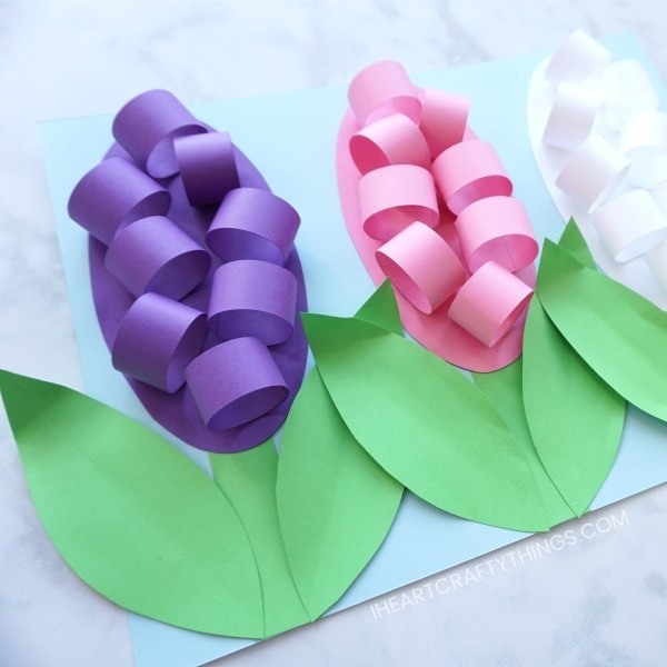 How to Make Paper Hyacinth Flowers   I Heart Crafty Things How to make Paper Hyacinth Flowers