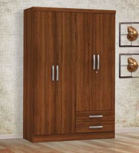 Buy Kimura Four Door Wardrobe in Teak Finish by Mintwud Online     Kimura Four Door Wardrobe in Teak Finish by Mintwud