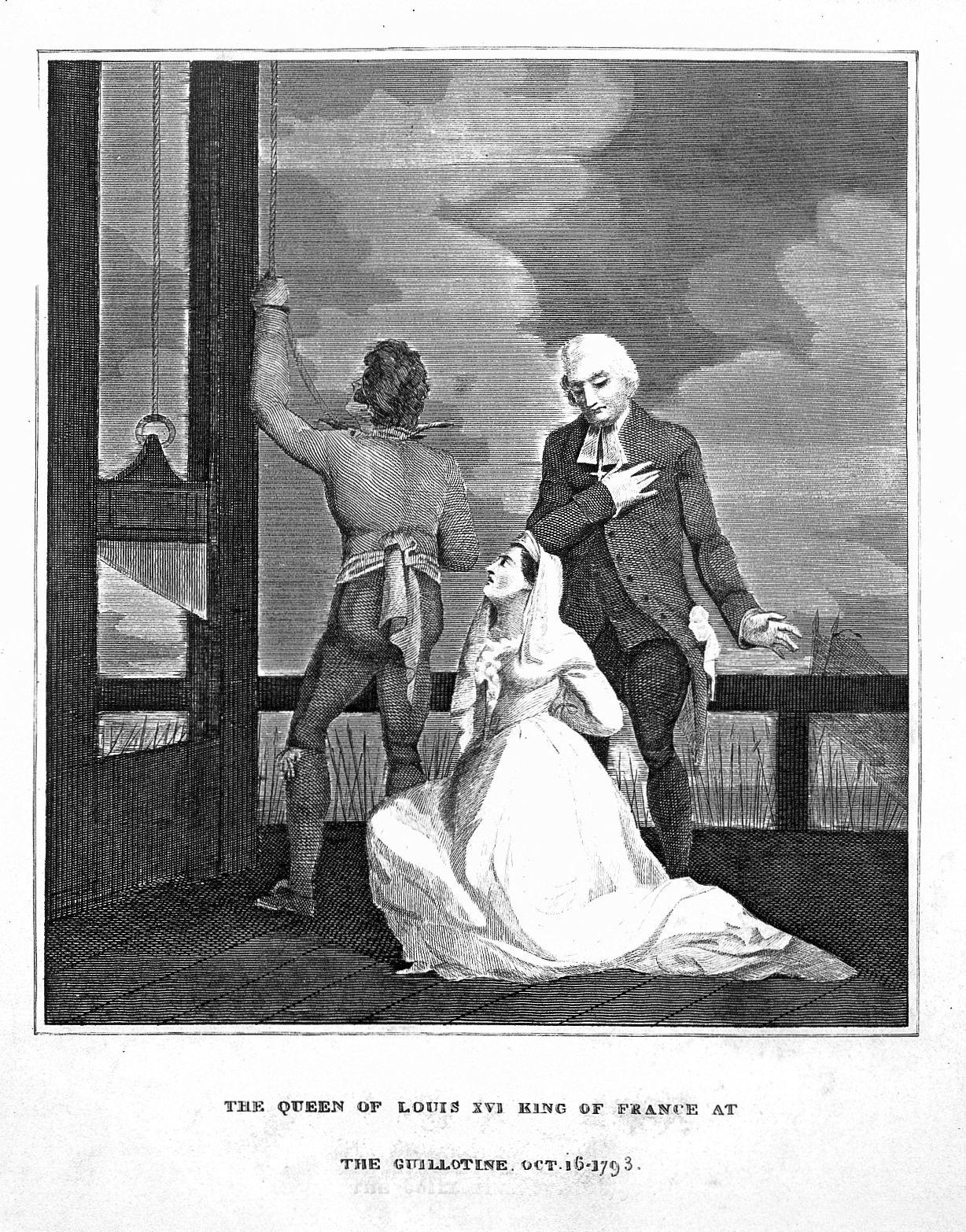 Marie Antoinette Queen Of France Kneeling Before The