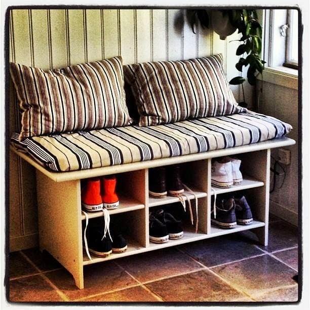 Leksvik Coffee Table To Shoe Bench Ikea Hackers