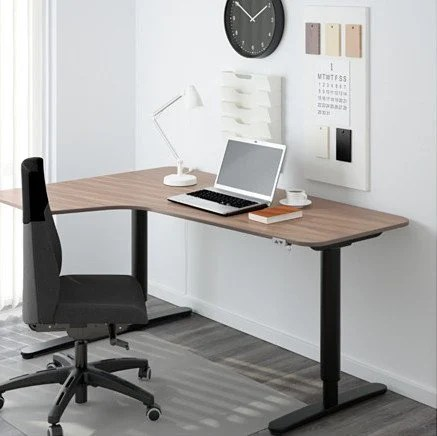 6 Ikea L shaped desks to boost productivity   IKEA Hackers bekant corner desk left sit stand gray