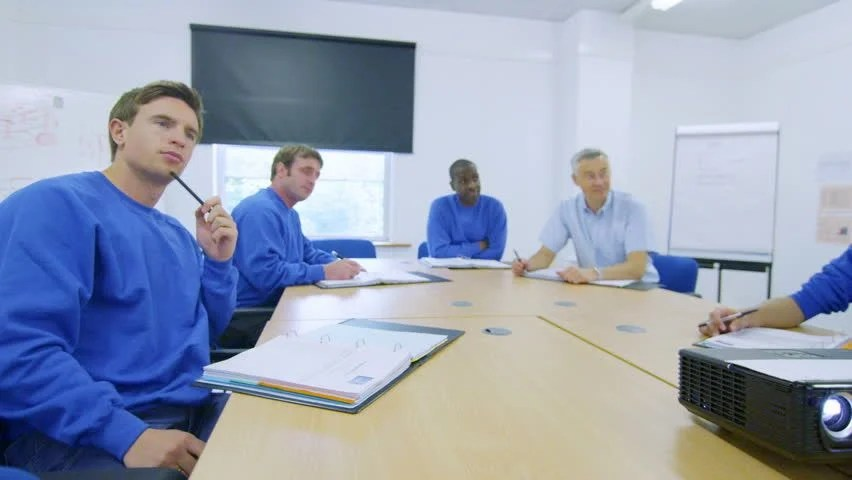 Mixed Ethnicity Team Of Manual Workers Attending A Company ...
