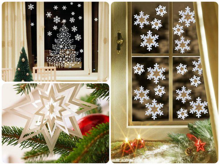 Oleskan sedikit pada semua bagian kepingan salju dan pasang ke jendela.