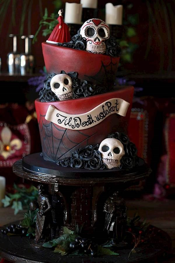 Caz And Grant S Red Amp Black Wedding With Tim Burton