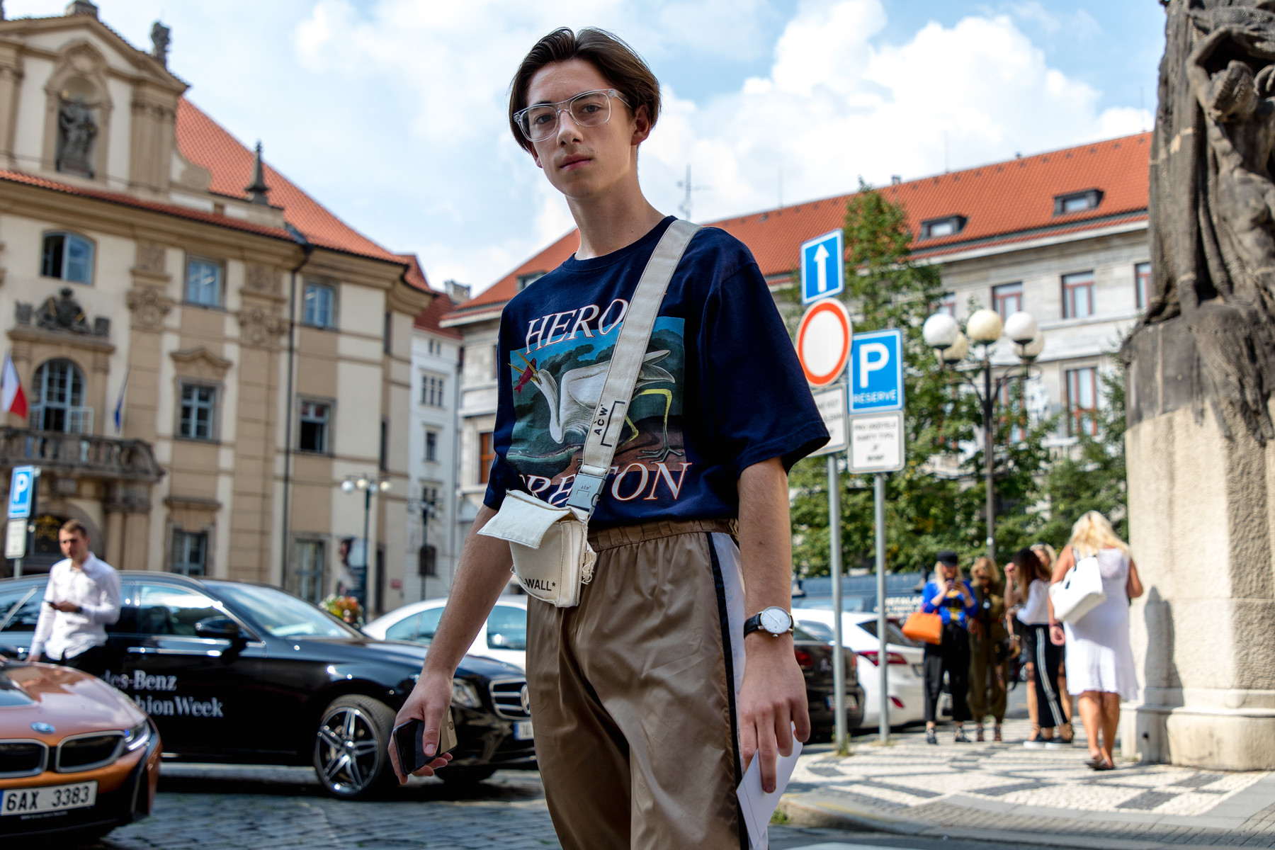 Prague Fashion Week SS19 Street Style   HYPEBEAST Prague Fashion Week Spring Summer 2019 Street Style Mercedes Benz Fashion  Week vetements balenciaga
