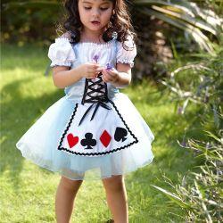 fccf6eac858 Alice In Wonderland Dresses Flower Girls. 2018 Alice In Wonderland Princess  Dance Princess Flowers Skirts For