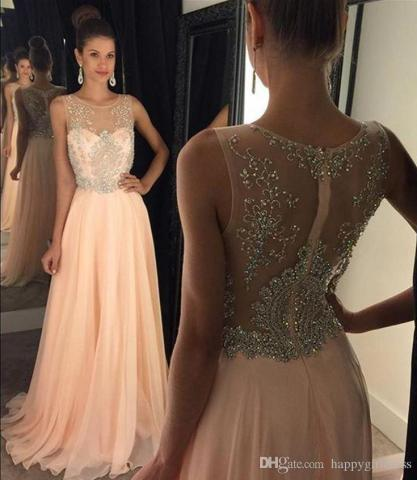 2018 New Arrival Fashion Scoop Neck Prom Dresses Beads Crystal Off     2018 New Arrival Fashion Scoop Neck Prom Dresses Beads Crystal Off The  Shoulder Sweep Train Long Chiffon Evening Gowns Vestidos De Festa City  Triangles Prom