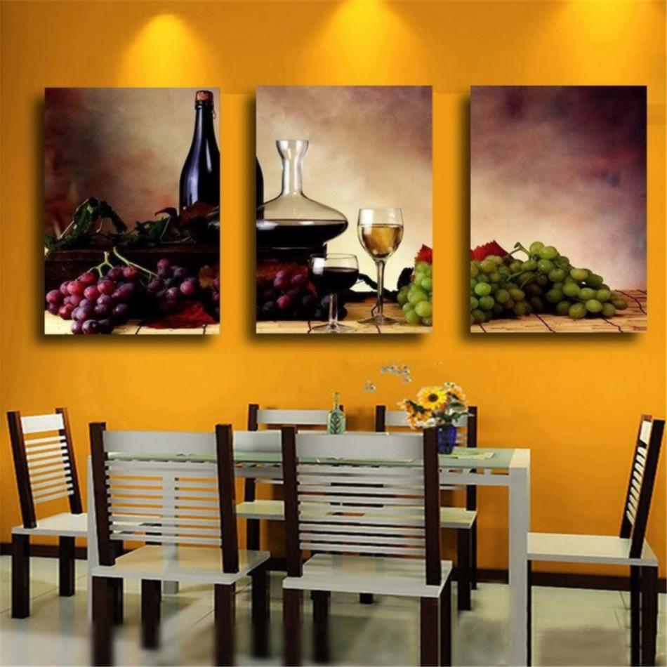 Best Kitchen Gallery: Wine Fruit Kitchen Home Decor Hd Printed Modern Art Painting On of Modern Art For Kitchen on rachelxblog.com