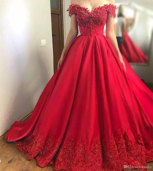 High Waist Ball Gown Prom Dress Off Shoulder Satin With Floral     High Waist Ball Gown Prom Dress Off Shoulder Satin With Floral Applique  Beads Sequins Sweep Train Evening Gowns Lace Up Back Tie Dye Prom Dresses  Usa Prom