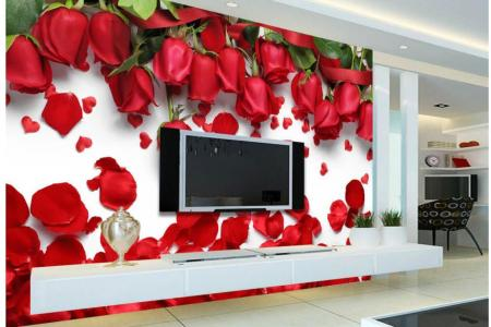 3d Wall Murals Wallpaper Beautiful Romantic Love Red Rose Flower     3d Wall Murals Wallpaper Beautiful Romantic Love Red Rose Flower Petal Tv  Background Wall 3d Nature Wallpapers Free Wallpaper In Hd Free Wallpapers  From