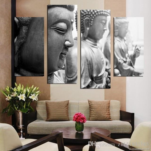 Buddha Face Canvas Painting Home Decor Wall Art Picture for Living     Buddha Face Canvas Painting Home Decor Wall Art Picture for Living Room No  Frame Abstract Oil Painting Buddha Home Decor Online with  15 85 Set on