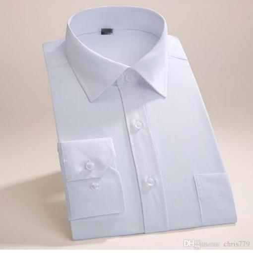 Shop Men s Dress Shirts Online  Tailor Made Men Shirt Long Sleeve     Shop Men s Dress Shirts Online  Tailor Made Men Shirt Long Sleeve Wedding  Tuxedo Shirt Simple Fashion Good Quality Groom Best Man Party Dress Shirt  With As