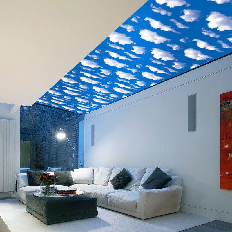 Großhandel 3D Blue Sky White Cloud Landschaft Fenster Kunst Design
